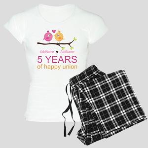 5th Anniversary Personalize Women's Light Pajamas