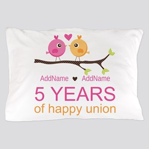 5th Anniversary Personalized Pillow Case