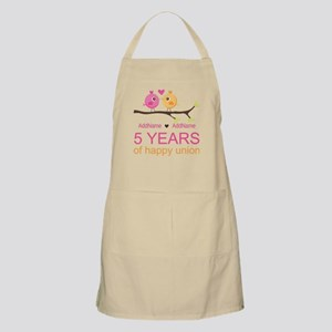 5th Anniversary Personalized Apron