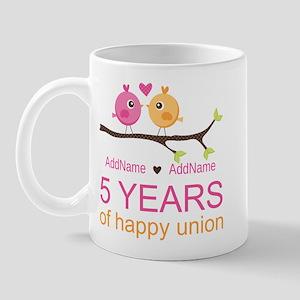 5th Anniversary Personalized Mug