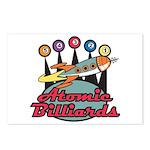 Retro Atomic Billiards Pool Hall Sign Postcards (P
