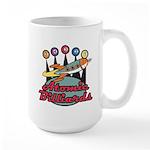 Retro Atomic Billiards Pool Hall Sign Large Mug