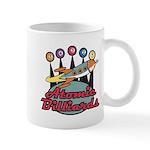 Retro Atomic Billiards Pool Hall Sign Mug