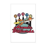 Retro Atomic Billiards Pool Hall Sign Mini Poster