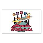 Retro Atomic Billiards Pool Hall Sign Sticker (Rec