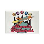 Retro Atomic Billiards Pool Hall Sign Rectangle Ma
