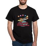 Retro Atomic Billiards Pool Hall Sign Dark T-Shirt