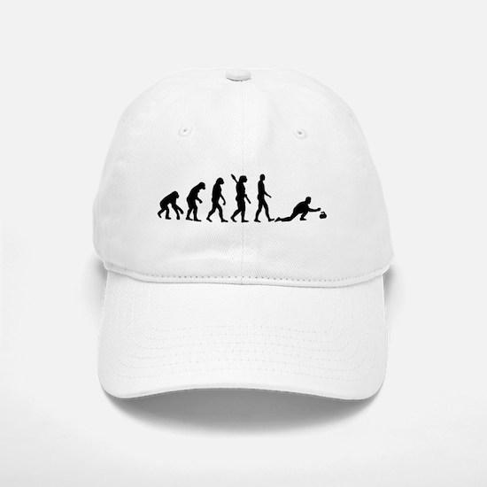 Curling evolution Baseball Baseball Cap