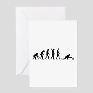 Curling evolution Greeting Card