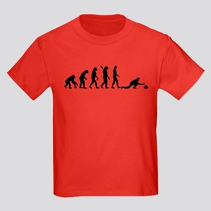 Curling evolution Kids Dark T-Shirt