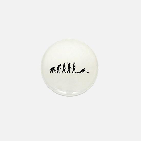 Curling evolution Mini Button