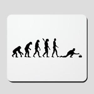 Curling evolution Mousepad