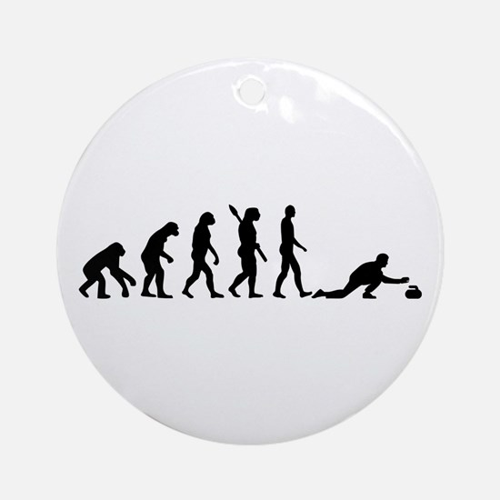 Curling evolution Ornament (Round)