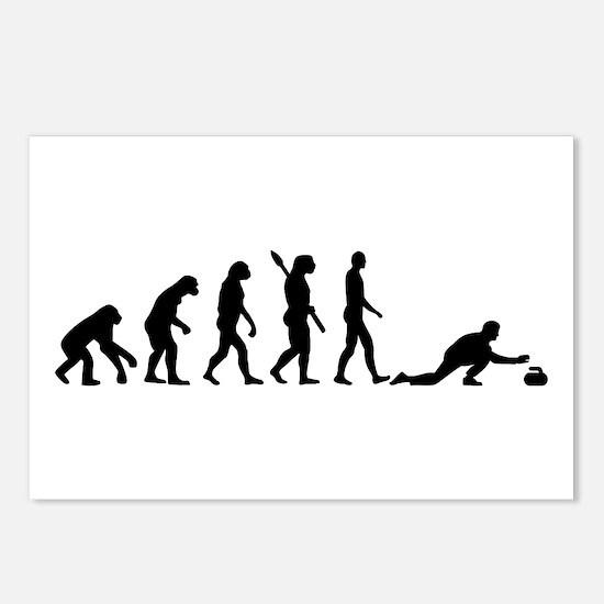 Curling evolution Postcards (Package of 8)
