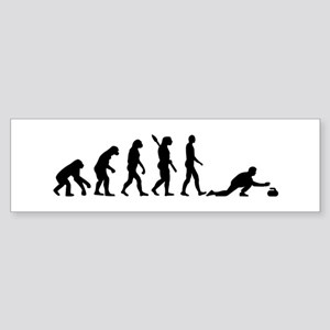 Curling evolution Sticker (Bumper)
