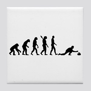 Curling evolution Tile Coaster