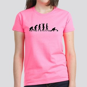 Curling evolution Women's Dark T-Shirt
