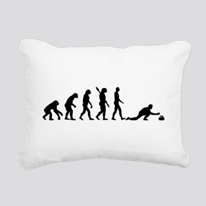 Curling evolution Rectangular Canvas Pillow