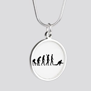 Curling evolution Silver Round Necklace