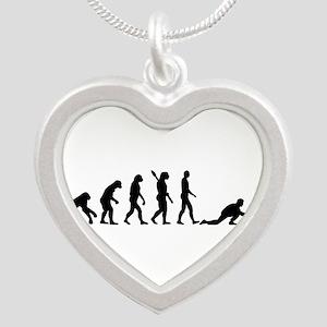 Curling evolution Silver Heart Necklace