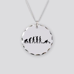 Curling evolution Necklace Circle Charm
