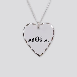 Curling evolution Necklace Heart Charm