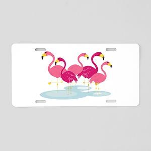 Flamingos Aluminum License Plate