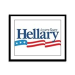 HELLARY anti Hillary Clinton Framed Panel Print