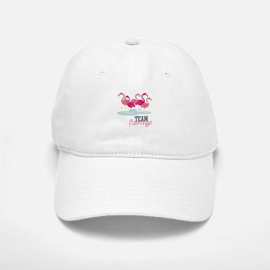 Team Flamingo Baseball Baseball Baseball Cap