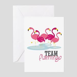 Team Flamingo Greeting Cards