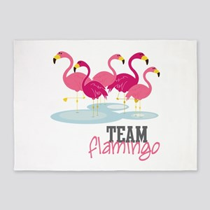 Team Flamingo 5'x7'Area Rug