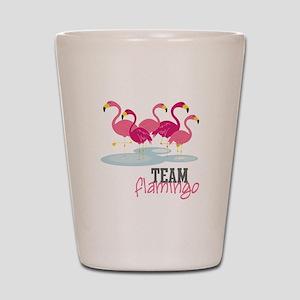 Team Flamingo Shot Glass