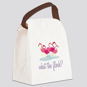 What The Flock Canvas Lunch Bag