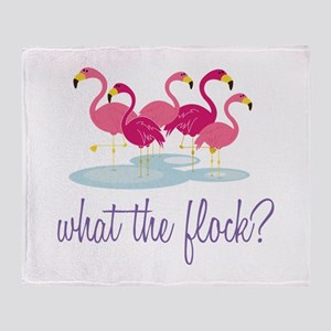 What The Flock Throw Blanket