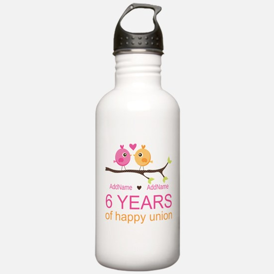 6th Anniversary Person Water Bottle