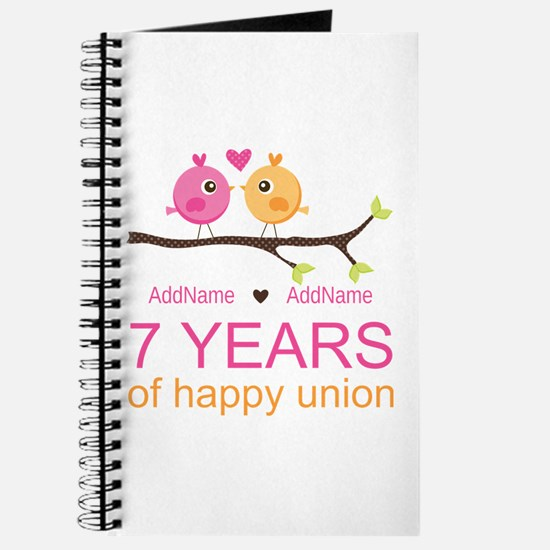 7th Anniversary Personalized Journal
