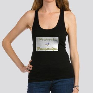 Property Of Jacquelyn Female Racerback Tank Top