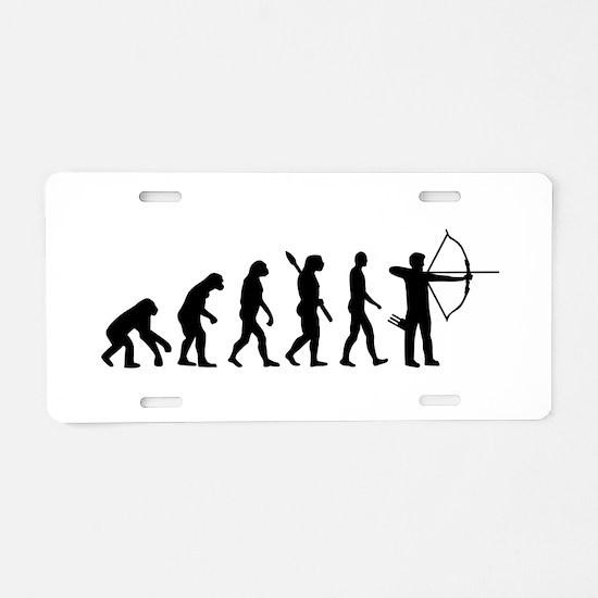 Evolution Archery Aluminum License Plate