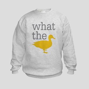 What The Duck? Kids Sweatshirt