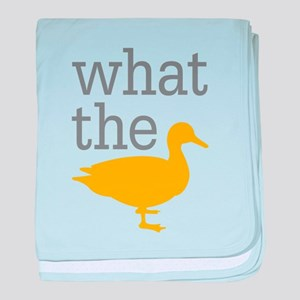 What The Duck? baby blanket