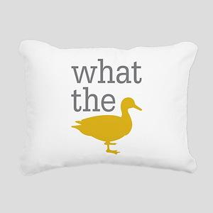 What The Duck? Rectangular Canvas Pillow