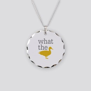 What The Duck? Necklace Circle Charm
