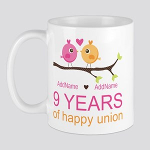 9th Wedding Anniversary Personalized Mug