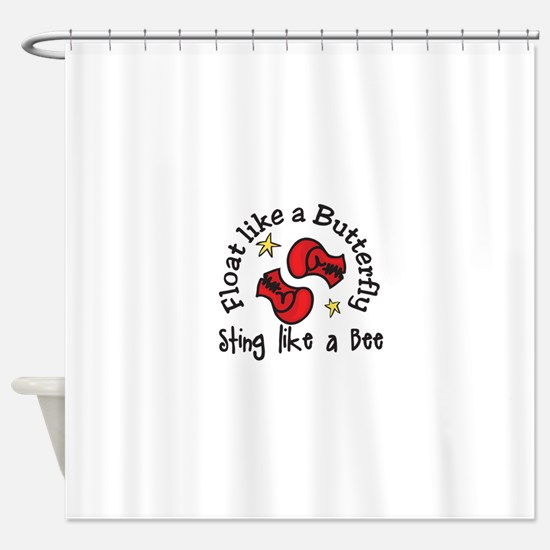 Sting Like A Bee Shower Curtain