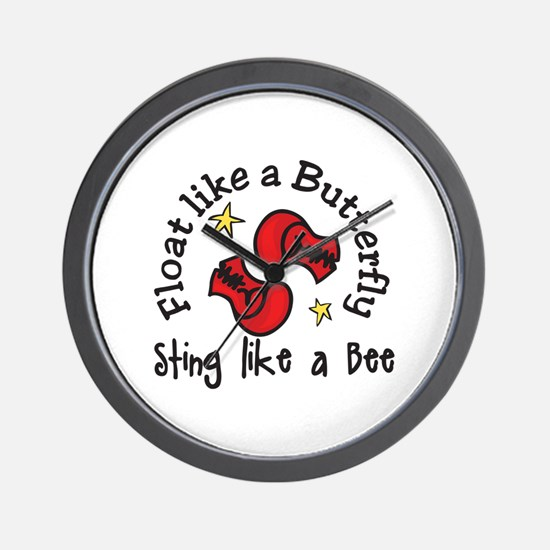 Sting Like A Bee Wall Clock