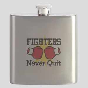 Fighters Never Quit Flask