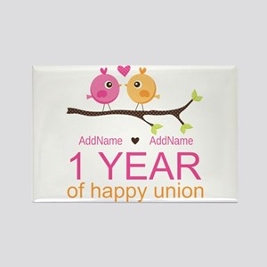 1st Anniversary Personalized Rectangle Magnet