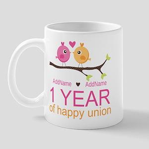 1st Anniversary Personalized Mug