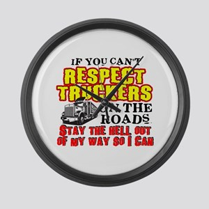 Respect Truckers Large Wall Clock