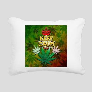 Keep Calm and Marijuana Leaf Rectangular Canvas Pi